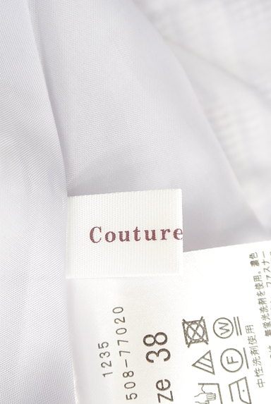 Couture Brooch(クチュールブローチ)の古着「膝下丈起毛チェック柄フレアスカート(スカート)」大画像6へ