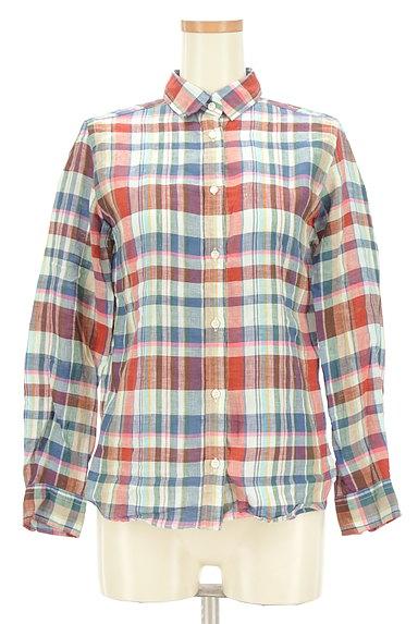TOMORROWLAND(トゥモローランド)の古着「チェック柄リネンシャツ(カジュアルシャツ)」大画像1へ