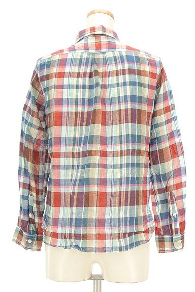 TOMORROWLAND(トゥモローランド)の古着「チェック柄リネンシャツ(カジュアルシャツ)」大画像2へ