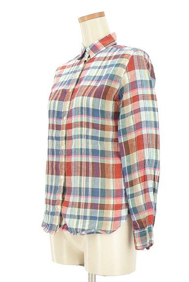 TOMORROWLAND(トゥモローランド)の古着「チェック柄リネンシャツ(カジュアルシャツ)」大画像3へ