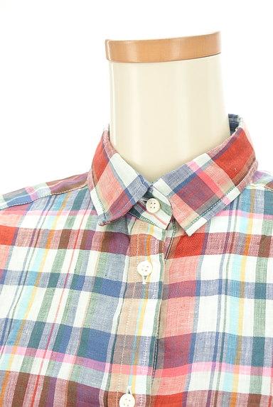 TOMORROWLAND(トゥモローランド)の古着「チェック柄リネンシャツ(カジュアルシャツ)」大画像4へ