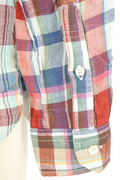 TOMORROWLAND(トゥモローランド)の古着「チェック柄リネンシャツ(カジュアルシャツ)」大画像5へ
