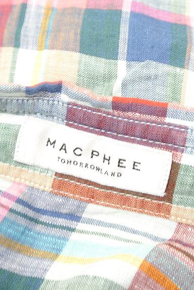 TOMORROWLAND(トゥモローランド)の古着「チェック柄リネンシャツ(カジュアルシャツ)」大画像6へ