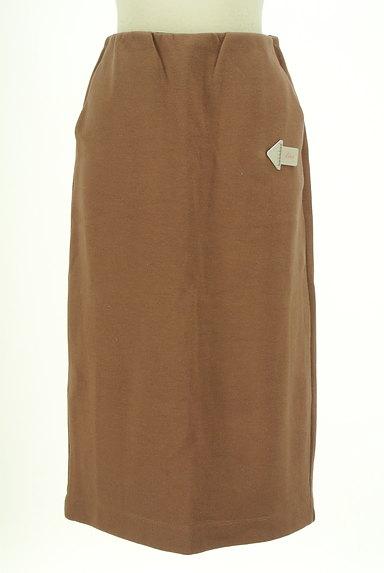 ROSE BUD(ローズバッド)の古着「膝下丈ストレッチスカート(スカート)」大画像4へ