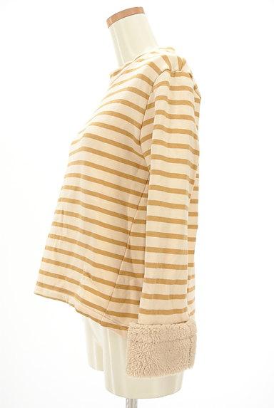 McGREGOR(マックレガー)の古着「袖口ボア裏起毛ボーダープルオーバー(カットソー・プルオーバー)」大画像3へ