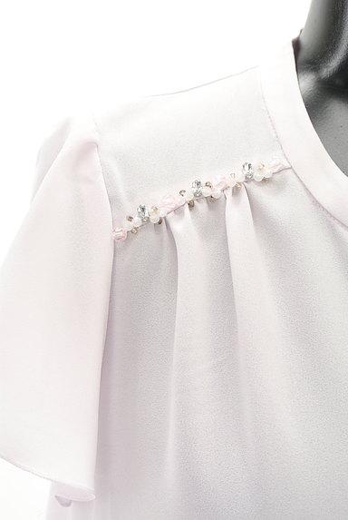 PROPORTION BODY DRESSING(プロポーションボディ ドレッシング)の古着「ビーズ付きシフォンブラウス(ブラウス)」大画像4へ