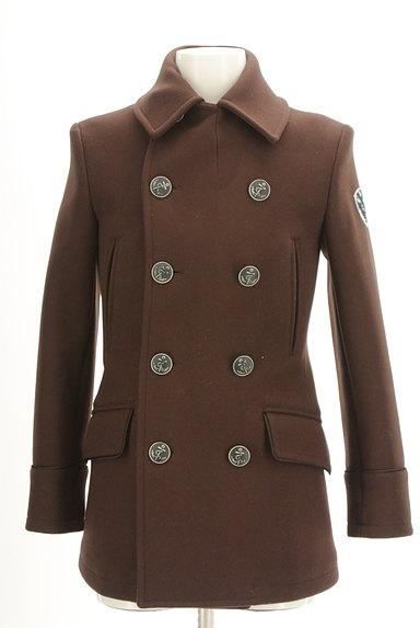 NEW YORKER(ニューヨーカー)の古着「ミドル丈エンブレム付きウールコート(コート)」大画像1へ