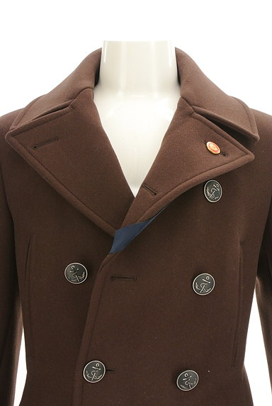 NEW YORKER(ニューヨーカー)の古着「ミドル丈エンブレム付きウールコート(コート)」大画像4へ
