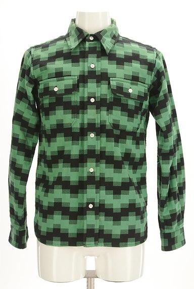 BILLIONAIRE BOYS CLUB(ビリオネアボーイズクラブ)の古着「肘当てワッペン付きカジュアルシャツ(カジュアルシャツ)」大画像1へ