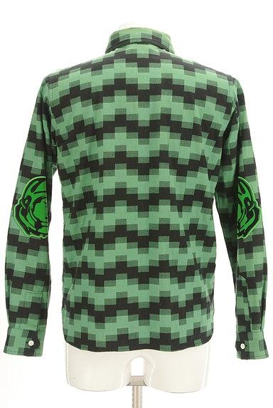 BILLIONAIRE BOYS CLUB(ビリオネアボーイズクラブ)の古着「肘当てワッペン付きカジュアルシャツ(カジュアルシャツ)」大画像2へ