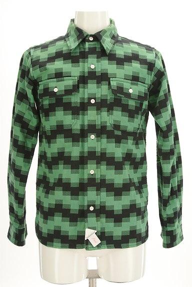 BILLIONAIRE BOYS CLUB(ビリオネアボーイズクラブ)の古着「肘当てワッペン付きカジュアルシャツ(カジュアルシャツ)」大画像4へ
