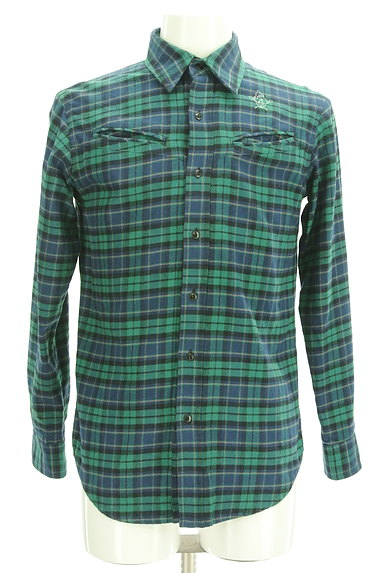 BILLIONAIRE BOYS CLUB(ビリオネアボーイズクラブ)の古着「ワンポイント刺繍フランネルシャツ(カジュアルシャツ)」大画像1へ