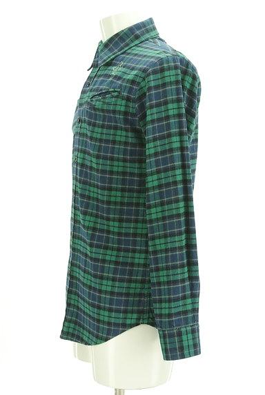 BILLIONAIRE BOYS CLUB(ビリオネアボーイズクラブ)の古着「ワンポイント刺繍フランネルシャツ(カジュアルシャツ)」大画像3へ