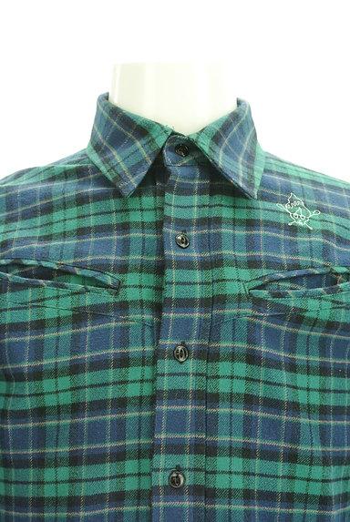 BILLIONAIRE BOYS CLUB(ビリオネアボーイズクラブ)の古着「ワンポイント刺繍フランネルシャツ(カジュアルシャツ)」大画像4へ