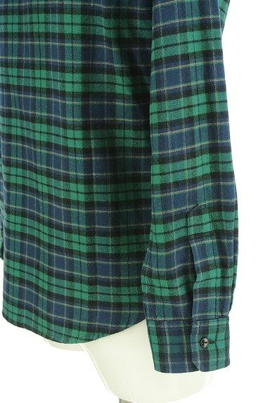 BILLIONAIRE BOYS CLUB(ビリオネアボーイズクラブ)の古着「ワンポイント刺繍フランネルシャツ(カジュアルシャツ)」大画像5へ