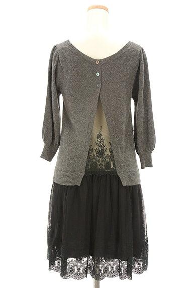 JILLSTUART(ジルスチュアート)の古着「刺繍チュール切替7分袖ワンピース(ワンピース・チュニック)」大画像2へ