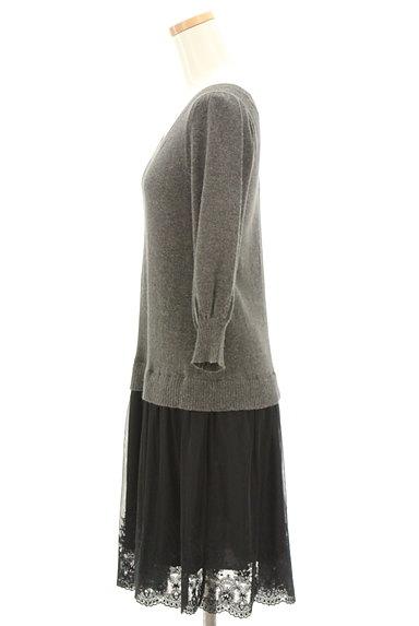 JILLSTUART(ジルスチュアート)の古着「刺繍チュール切替7分袖ワンピース(ワンピース・チュニック)」大画像3へ