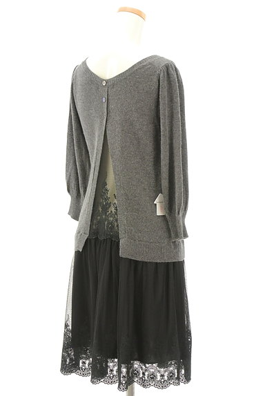 JILLSTUART(ジルスチュアート)の古着「刺繍チュール切替7分袖ワンピース(ワンピース・チュニック)」大画像4へ