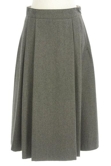 HUMAN WOMAN(ヒューマンウーマン)の古着「ミモレ丈ウールタックフレアスカート(ロングスカート・マキシスカート)」大画像1へ