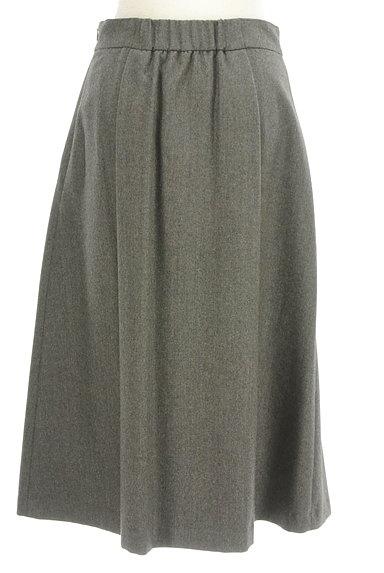 HUMAN WOMAN(ヒューマンウーマン)の古着「ミモレ丈ウールタックフレアスカート(ロングスカート・マキシスカート)」大画像2へ