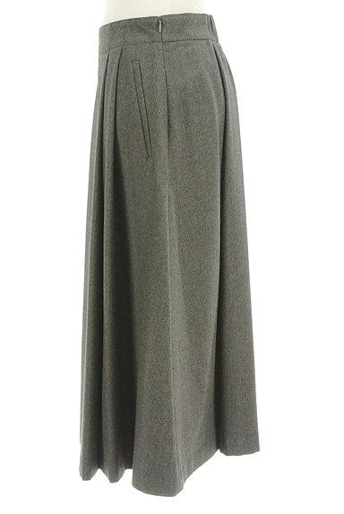 HUMAN WOMAN(ヒューマンウーマン)の古着「ミモレ丈ウールタックフレアスカート(ロングスカート・マキシスカート)」大画像3へ