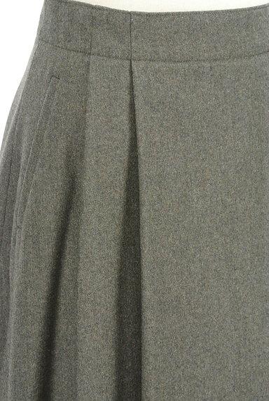 HUMAN WOMAN(ヒューマンウーマン)の古着「ミモレ丈ウールタックフレアスカート(ロングスカート・マキシスカート)」大画像4へ