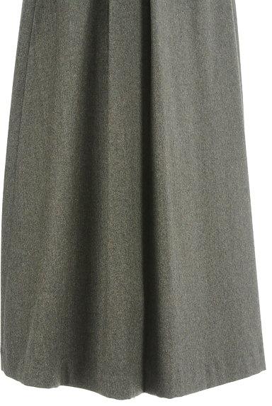 HUMAN WOMAN(ヒューマンウーマン)の古着「ミモレ丈ウールタックフレアスカート(ロングスカート・マキシスカート)」大画像5へ