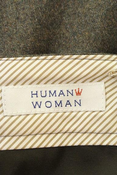 HUMAN WOMAN(ヒューマンウーマン)の古着「ミモレ丈ウールタックフレアスカート(ロングスカート・マキシスカート)」大画像6へ