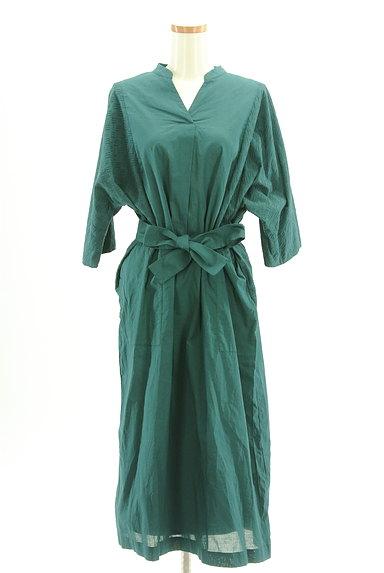 HUMAN WOMAN(ヒューマンウーマン)の古着「刺繍ドルマン袖ロングワンピース(ワンピース・チュニック)」大画像1へ