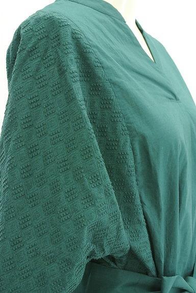 HUMAN WOMAN(ヒューマンウーマン)の古着「刺繍ドルマン袖ロングワンピース(ワンピース・チュニック)」大画像4へ