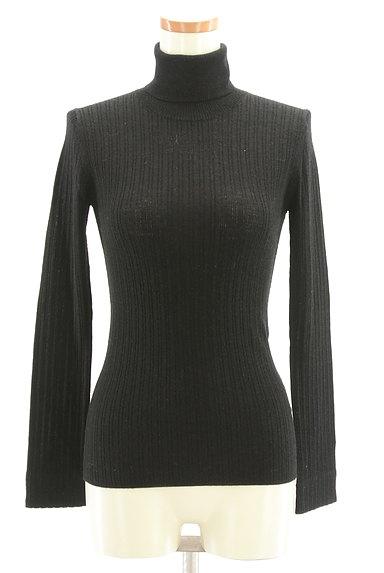 HUMAN WOMAN(ヒューマンウーマン)の古着「ベーシックリブ長袖タートルニット(ニット)」大画像1へ