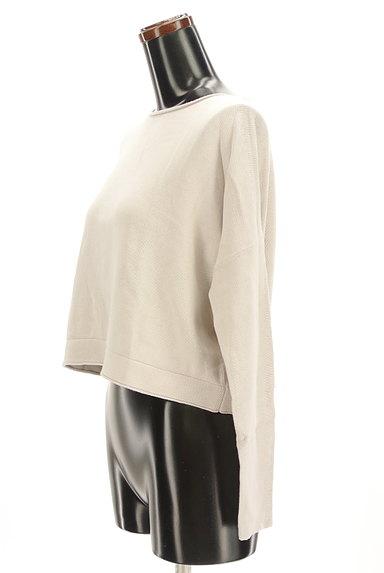 HUMAN WOMAN(ヒューマンウーマン)の古着「ドルマンショートニットソー(ニット)」大画像3へ