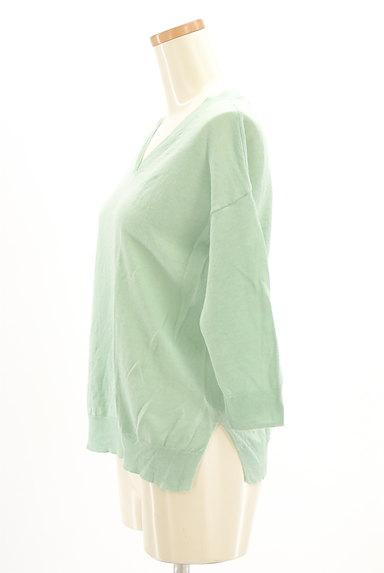 HUMAN WOMAN(ヒューマンウーマン)の古着「麻素材Vネック7分袖ニット(ニット)」大画像3へ