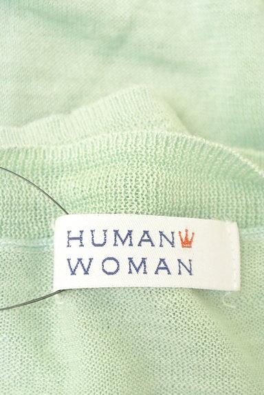 HUMAN WOMAN(ヒューマンウーマン)の古着「麻素材Vネック7分袖ニット(ニット)」大画像6へ
