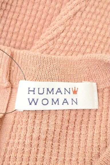 HUMAN WOMAN(ヒューマンウーマン)の古着「ヘンリーネックワッフルカットソー(ニット)」大画像6へ