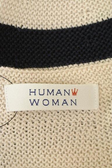 HUMAN WOMAN(ヒューマンウーマン)の古着「太ボーダーラウンドニット(ニット)」大画像6へ