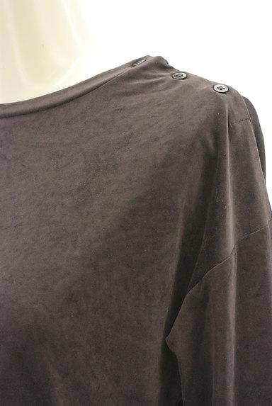HUMAN WOMAN(ヒューマンウーマン)の古着「サイドボタンベロアカットソー(カットソー・プルオーバー)」大画像4へ