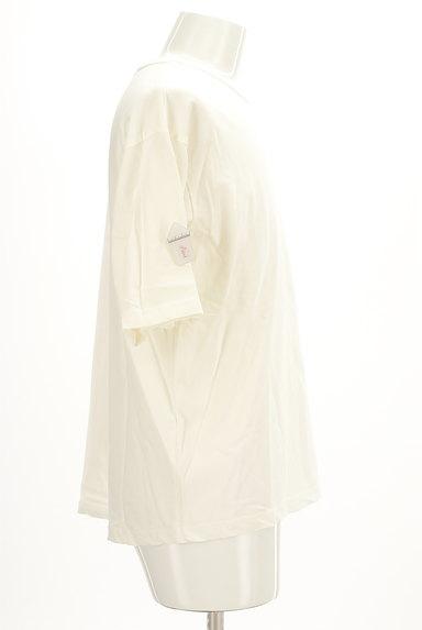 AZUL by moussy(アズールバイマウジー)の古着「オーバーワイド5分袖Tシャツ(Tシャツ)」大画像4へ
