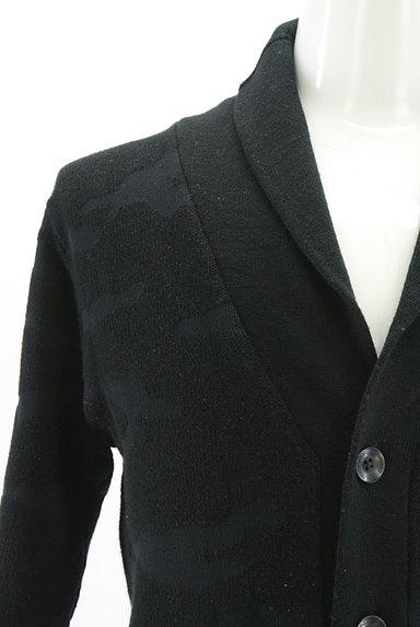 AZUL by moussy(アズールバイマウジー)の古着「迷彩柄編地カーディガン(カーディガン)」大画像4へ