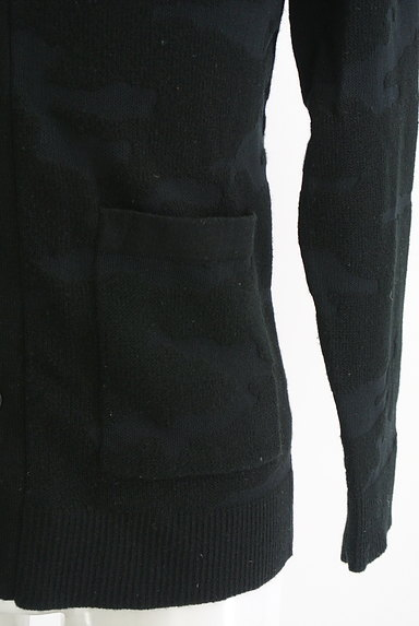 AZUL by moussy(アズールバイマウジー)の古着「迷彩柄編地カーディガン(カーディガン)」大画像5へ