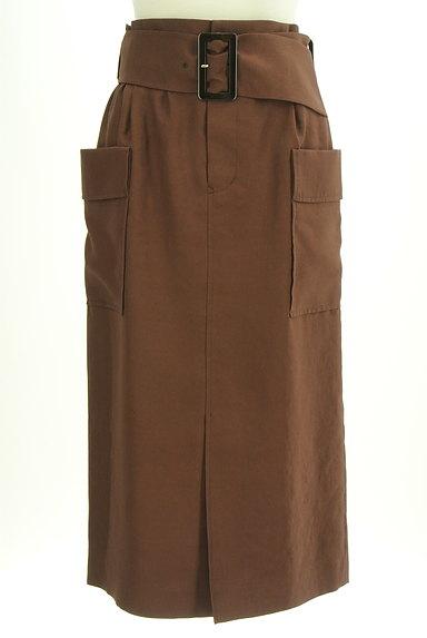 Pinky&Dianne(ピンキー&ダイアン)の古着「ベルト付ミモレ丈スリットタイトスカート(ロングスカート・マキシスカート)」大画像1へ