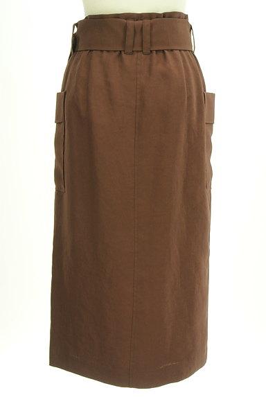 Pinky&Dianne(ピンキー&ダイアン)の古着「ベルト付ミモレ丈スリットタイトスカート(ロングスカート・マキシスカート)」大画像2へ