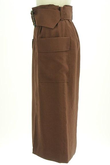 Pinky&Dianne(ピンキー&ダイアン)の古着「ベルト付ミモレ丈スリットタイトスカート(ロングスカート・マキシスカート)」大画像3へ