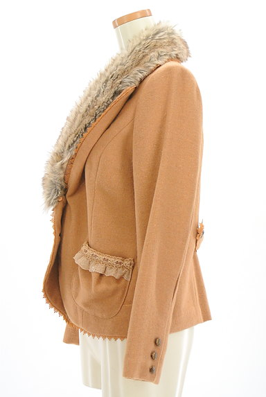 axes femme(アクシーズファム)の古着「ファー付きガーリージャケット(コート)」大画像3へ