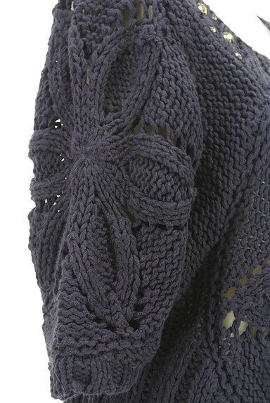 axes femme(アクシーズファム)の古着「ローゲージ7分袖ペプラムニット(ニット)」大画像5へ