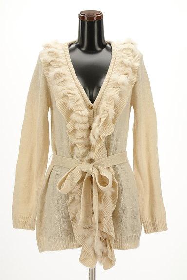 axes femme(アクシーズファム)の古着「ファー付きフリルロングラメカーデ(カーディガン・ボレロ)」大画像1へ