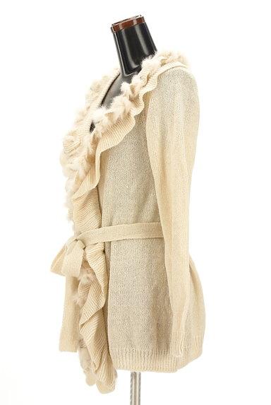 axes femme(アクシーズファム)の古着「ファー付きフリルロングラメカーデ(カーディガン・ボレロ)」大画像3へ