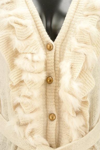axes femme(アクシーズファム)の古着「ファー付きフリルロングラメカーデ(カーディガン・ボレロ)」大画像4へ