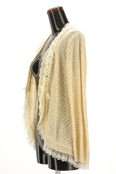 axes femme(アクシーズファム)の古着「装飾チュールフリルラメカーディガン(カーディガン・ボレロ)」大画像3へ