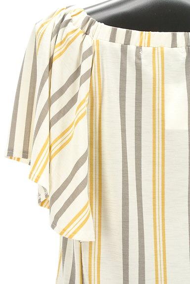 AZUL by moussy(アズールバイマウジー)の古着「ストライプ柄フレア袖カットソー(カットソー・プルオーバー)」大画像5へ